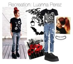 A fashion look from November 2015 featuring t shirts, black lace up flats and summer bags. Browse and shop related looks. Black Lace Up Flats, Luanna Perez, Summer Bags, Grunge, Fashion Looks, T Shirts For Women, Polyvore, Shopping, Tops