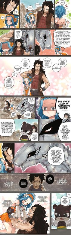 This is my favorite couple in Fairy Tail. Ya gotta love Gajeel&Levy