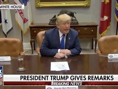 """""""Meeting with """"Chuck and Nancy"""" today about keeping government open and working. Problem is they want illegal immigrants flooding into our Country unchecked, are weak on Crime and want to substantially RAISE Taxes. I don't see a deal!"""" Trump tweeted.<br><br>In a stunning visual, President Trump gave a press conference next to two empty seats where Nancy Pelosi and Chuck Schumer were supposed to be sitting.<br><br>POTUS Trump was joined by House Speaker Paul Ryan and Senate Majority Leader…"""