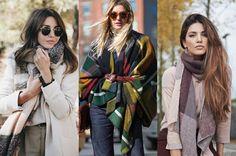 5 نصائح لإرتداء الشال بأناقة في شتاء 2017 | الصحة والجمال
