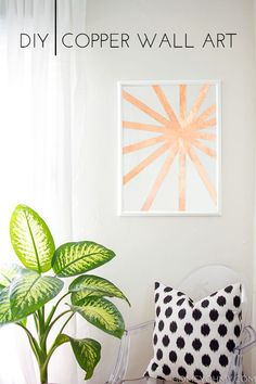 DIY Copper Wall Art, if it's real copper, just get thin cardboard and spray paint it.