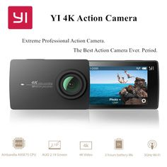 "YI 4K Action Camera International Edition Ambarella A9SE Cortex-A9 ARM 12MP CMOS 2.19"" 155 Degree EIS LDC WIFI  #awesomesauce"