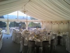 A simple classical marquee wedding interior Marquee Wedding Receptions, Wedding Venues, Wedding Themes, Wedding Decorations, Wedding Ideas, Park Weddings, Event Decor, House Design, Interior Design