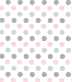 Nursery Baby Basic Fabric- Dots Gray White Pink Grey Wallpaper Background, Pink And Grey Wallpaper, Polka Dot Nursery, Baby Nursery Art, Nursery Fabric, Baby Fabric, Nursery Prints, Grey Wallpaper Background, Pink And Gold Wallpaper, Wallpaper Backgrounds, Pink Bedroom For Girls