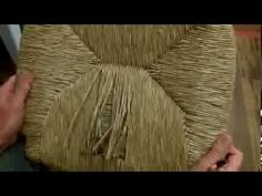 Fix those kitchen chairs!!  How to Weave A Rush Frame With Wrapped Corners, Round Corners & has a Special Weave - YouTube