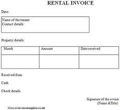 Free House Rental Invoice Rental Receipt Sample Invoice - Rental invoice template free