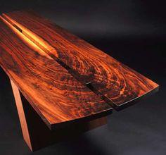 Custom Cantilevered Walnut Coffee Table by Boykin Pearce Associates   CustomMade.com
