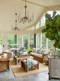 Panelled high ceilings, bright living room sun room