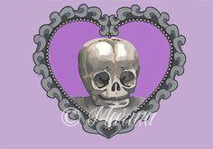 Baby skull tattoo