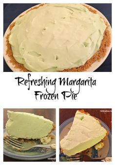 If you're looking for an adults-only dessert for a party, here it is!  Refreshing and easy to make, this Margarita Frozen Pie is sure to please!