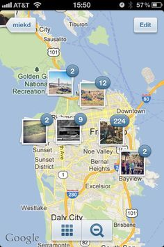 Instagram's new photo map look. Do you like the new change? #instagram