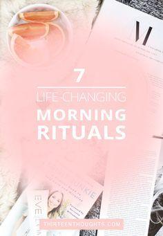 Life-changing morning rituals