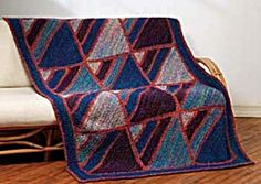 Crochet Waves of Color Afghan - Love these blocks!