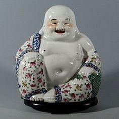 Chinese Famille Rose Porcelain Happy Buddha