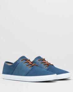 Pull&Bear - hombre - zapatos hombre - bamba piel vestir - azul -  17705312-I2014