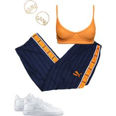 A fashion look from February 2018 featuring NIKE sneakers and BP. Browse and shop related looks. Cute Swag Outfits, Sporty Outfits, Retro Outfits, Stylish Outfits, Baskets En Cuir, Kawaii Clothes, Teen Fashion Outfits, Polyvore Outfits, Polyvore Fashion