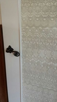 Interior door with lace made by myself.