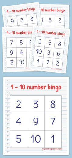Play virtual BINGO with your friends for free on any device. Customize the bingo cards and generate printable or virtual bingo cards for free. Teaching Numbers, Numbers Kindergarten, Numbers Preschool, Math Numbers, Preschool Printables, Preschool Learning, Math Activities, Subtraction Activities, Numbers 1 10