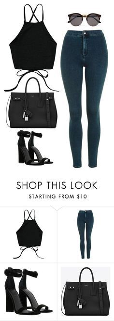"""Untitled #25"" by heelobsession ❤ liked on Polyvore featuring Topshop, Kendall + Kylie, Yves Saint Laurent and Illesteva"