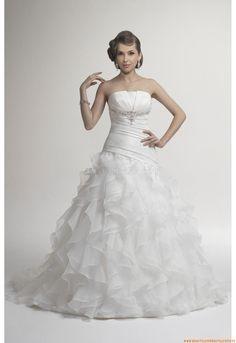 Tiefe Taille Günstige Brautkleider