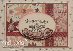 Stampin' Up! Birthday Blooms Stamp Set, Blooms and Bliss DSP, Mindiscards.wordpress.com