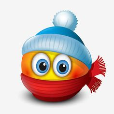 Cute winter emoticon, wearing cap and scarf, emoji, smiley - vector illustration Smiley Emoji, Animated Emoticons, Funny Emoticons, Emoji Images, Emoji Pictures, World Emoji, Funny Emoji Faces, Naughty Emoji, Emoji Love