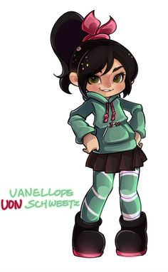Vanellope Von Schweetz, Wreck It Ralph, Luigi, Character Design, Anime, Fictional Characters, Anime Shows