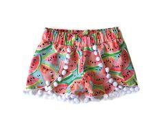 Coachella Shorts  Pom Pom Shorts  Fruity by HelloEllieShop on Etsy