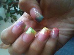 Color fade nails