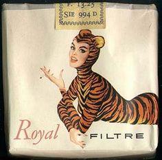 1950 - for Belgian cigarette label (Royal) Tigra