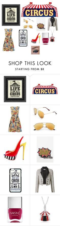 """""""Circus"""" by minions4ever123 on Polyvore featuring Emily and Fin, Circus By Sam Edelman, Christian Louboutin, Jeremy Scott and Nails Inc."""