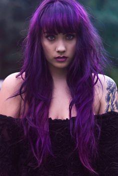 Intense purple hair.   Technicolor Hair Girl