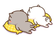 so cute love it! comment bellow if you like cats! Cute Cartoon Images, Cute Love Cartoons, Cute Cartoon Wallpapers, Cute Love Gif, Cute Cat Gif, Funny Cute, Cute Kawaii Animals, Kawaii Cat, Cute Bear Drawings
