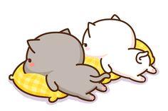 so cute love it! comment bellow if you like cats! Cute Animal Drawings, Kawaii Drawings, Cute Drawings, Cute Kawaii Animals, Kawaii Cat, Chibi Cat, Cute Chibi, Cute Love Gif, Cute Cat Gif
