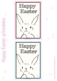 Free printable happy easter printables - ausdruckbare Hasen - freebie | MeinLilaPark – digital freebies
