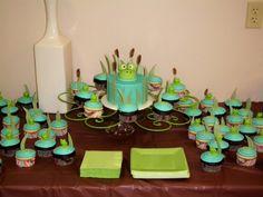 Frog baby shower cake...