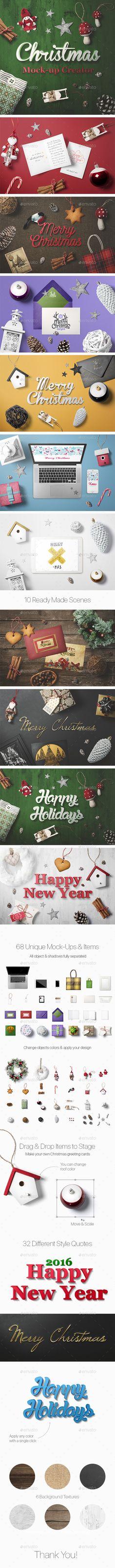 Christmas Mock-Up Creator #design Download: http://graphicriver.net/item/christmas-mockup-creator/13664788?ref=ksioks