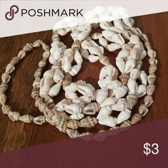 """Long sea shell necklace Nice, 24"""" full of sea shells. Very gorgeous on. Jewelry Necklaces"""