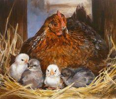 Beautiful Chickens, Beautiful Birds, Animals Beautiful, Chicken Painting, Chicken Art, Farm Paintings, Animal Paintings, Indian Paintings, Rooster Art