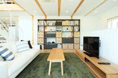 「木の家」モデルハウスのリビング収納