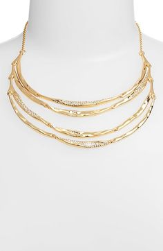 A nice size piece for more petite women who can't carry chunky necklaces  Alexis Bittar Miss Havisham - Liquid' Tiered Bib Necklace available at #Nordstrom