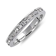 Bailey: Stackable Russian Ice CZ April Birthstone Eternity Band Ring