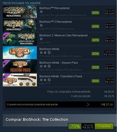 [steam] BioShock: The Collection + Season Pass = R$ 29,75