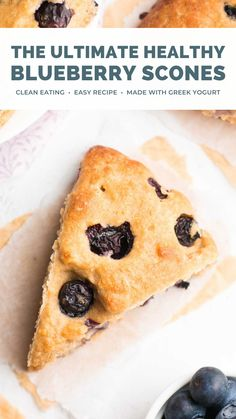 This is the BEST blueberry scones recipe!! You just need one bowl & 30 minutes to make these bakery-style scones. SO easy! Greek yogurt makes these healthy blueberry scones really moist — no heavy cream! My favorite homemade breakfast scones! Healthy clean eating blueberry scones. Blueberry scones recipe easy. Weight watchers blueberry scones with greek yogurt. #healthyrecipe #easybreakfast #cleaneating Healthy Fruit Cake, Healthy Egg Recipes, Healthy Fruit Smoothies, Easy Clean Eating Recipes, Tea Recipes, Fruit Recipes, Easy Meals, Healthy Food, Healthy Eating