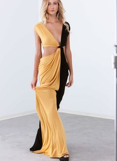 Loves Me Knot Draped Two-Tone Maxi from GoJane