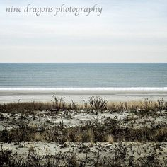 Neutral Water Photography Blue Ocean Art Grey by ninedragons #Winter #Photography #Art