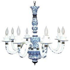 Reserved for jeanne i delft chandelier blue white pewter vintage would look lovely with pale blue silk shades mozeypictures Gallery