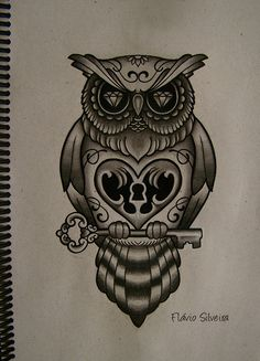 owl tattoos  | new owl tattoo by ~FraH on deviantART