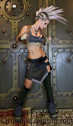 Tan Harness - SteampunkCouture - Ladies Clothing