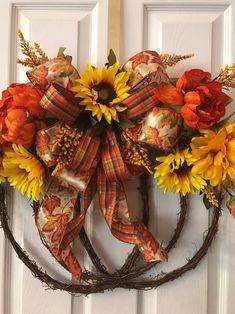 Fall Deco Mesh, Deco Mesh Wreaths, Holiday Wreaths, Christmas Decorations, Door Wreaths, Autum Wreaths, Halloween Wreaths, Fall Halloween, Holiday Decor